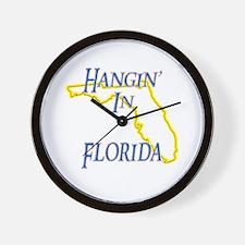 Hangin' in FL Wall Clock