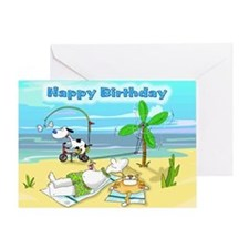 Birthday Humour Beach Greeting Card