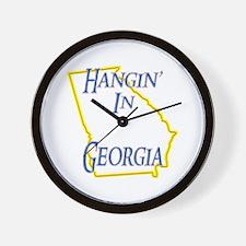 Hangin' in GA Wall Clock