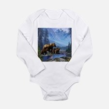Mountain Grizzly Bears Long Sleeve Infant Bodysuit