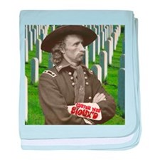 Custer was Siouxd baby blanket