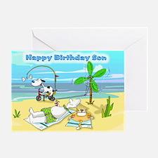 Happy Birthday Son,Beach Card