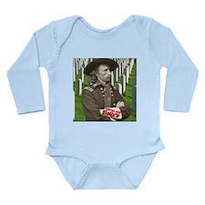 Custer was Siouxd Long Sleeve Infant Bodysuit