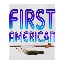 First American Throw Blanket