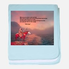 Go Forward With Courage baby blanket