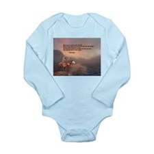 Go Forward With Courage Long Sleeve Infant Bodysui