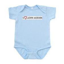 I Love John Hoeven Infant Creeper