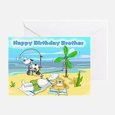 Happy Birthday Brother,Beach Greeting Card