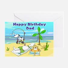 Happy Birthday Dad,Beach Greeting Card