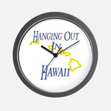 Hanging Out in HI Wall Clock