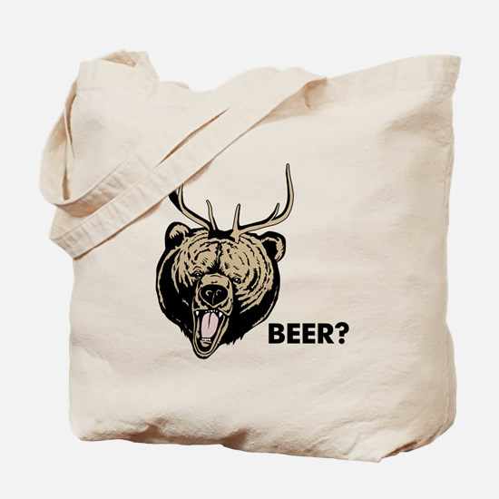 Beer Bear Deer Mac Tote Bag