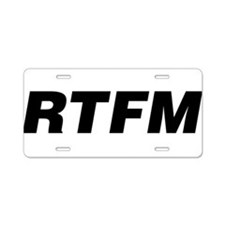 RTFM Aluminum License Plate