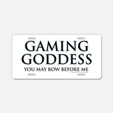 Gaming Goddess Aluminum License Plate