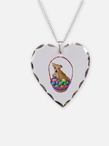 Puppy Easter Basket Necklace