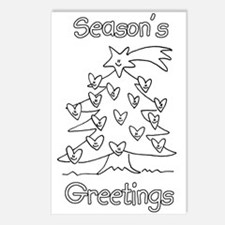 Color Your Own Season's Greetings Postcards