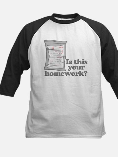 Your Homework Larry Kids Baseball Jersey