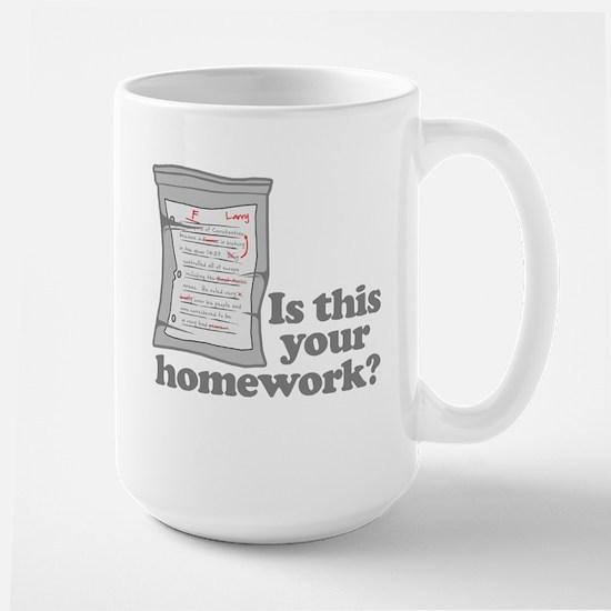Your Homework Larry Large Mug