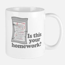 Your Homework Larry Mug