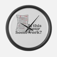 This Your Homework Large Wall Clock