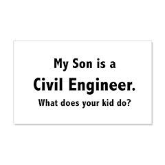 Civil Engineer Son 22x14 Wall Peel