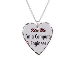 Kiss Me, I'm a Computer Engin Necklace