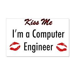 Kiss Me, I'm a Computer Engin 22x14 Wall Peel