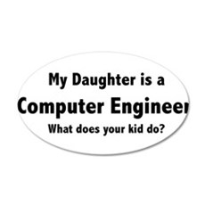 Computer Engineer Daughter 22x14 Oval Wall Peel