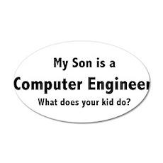 Computer Engineer Son 22x14 Oval Wall Peel