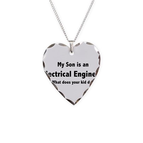Electrical Engineer Son Necklace Heart Charm