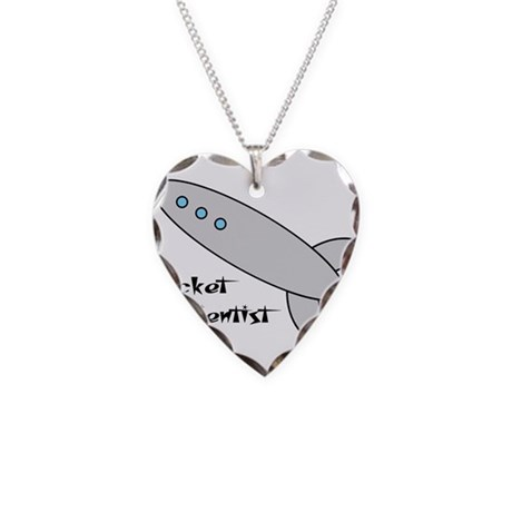 Rocket Scientist Necklace Heart Charm