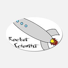 Rocket Scientist 22x14 Oval Wall Peel