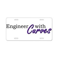 Engineer with Curves Aluminum License Plate