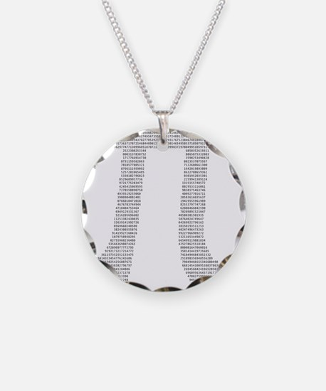 Digits of Pi Necklace Circle Charm