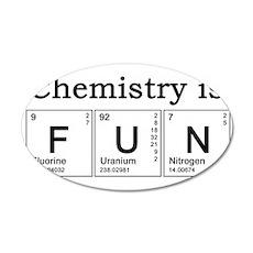 Chemistry Fun 22x14 Oval Wall Peel