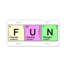 Periodic Fun Aluminum License Plate