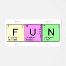 Periodic Fun Aluminum License Plate