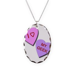 I Heart My Geek Necklace