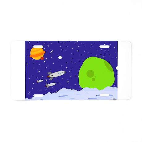 Space Patrol Aluminum License Plate