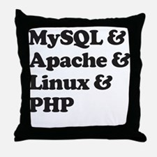 PHP MySQL Linux Throw Pillow