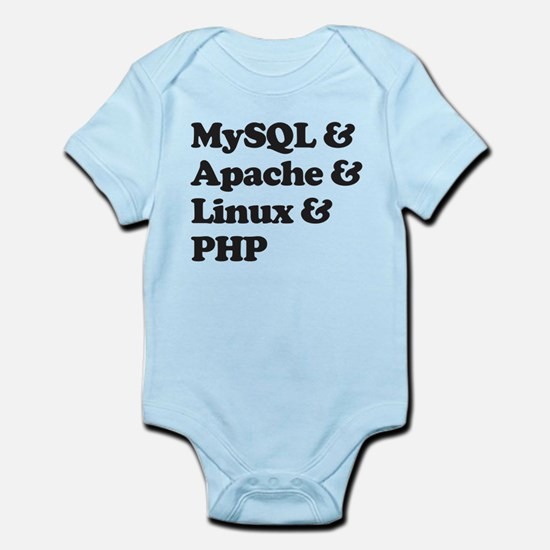 PHP MySQL Linux Infant Bodysuit