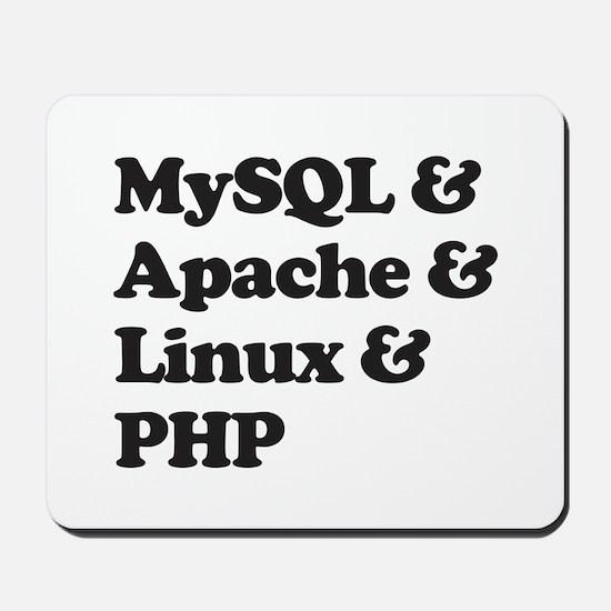 PHP MySQL Linux Mousepad