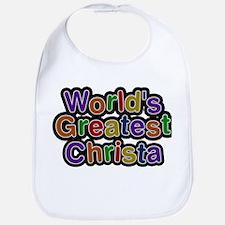 Worlds Greatest Christa Baby Bib