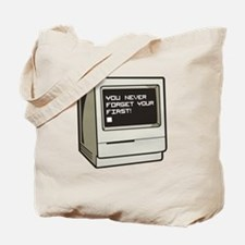 Never Forget First Computer Tote Bag