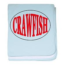 Crawfish Oval baby blanket