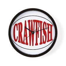 Crawfish Oval Wall Clock