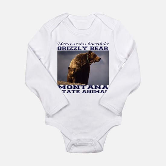 Grizzly - Montana State Animal Long Sleeve Infant