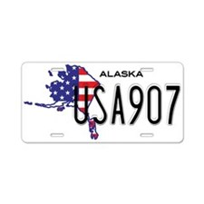 AK USA Aluminum License Plate