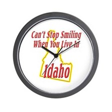 Can't Stop Smiling in ID Wall Clock