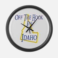 Off the Hook in ID Large Wall Clock