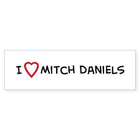 I Love Mitch Daniels Bumper Sticker